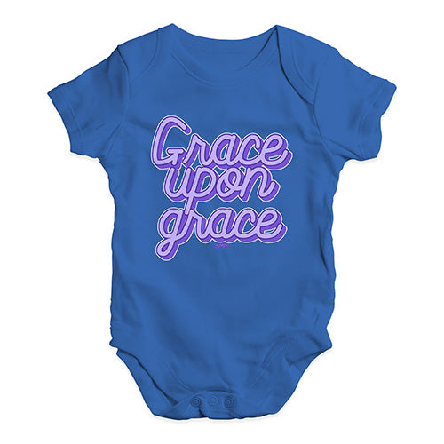 Babygrow Baby Romper Grace Upon Grace Baby Unisex Baby Grow Bodysuit 12 - 18 Months Royal Blue