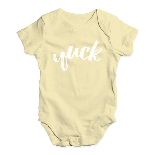 Baby Girl Clothes Yuck Baby Unisex Baby Grow Bodysuit 6 - 12 Months Lemon
