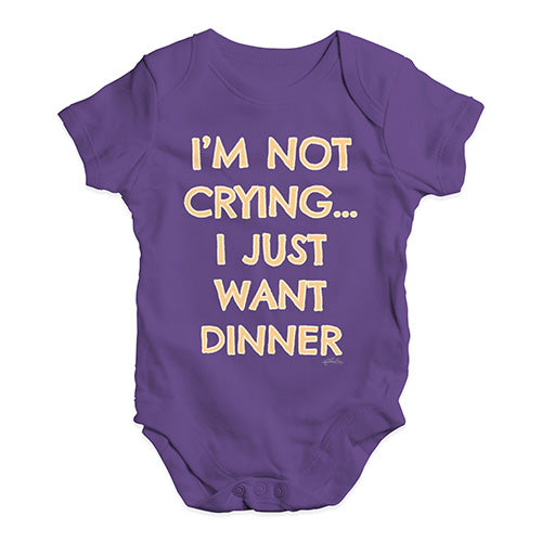 Funny Baby Clothes I'm Not Crying I Just Want Dinner  Baby Unisex Baby Grow Bodysuit 6-12 Months Plum