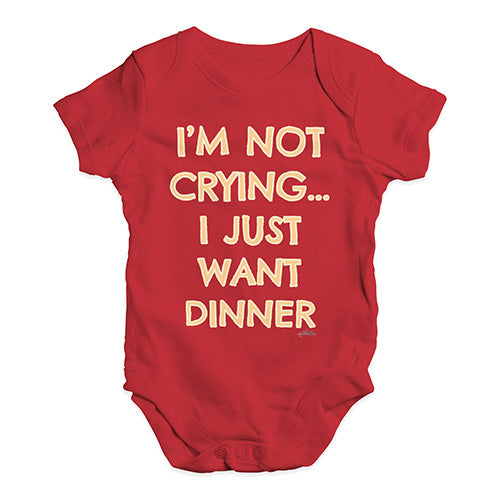 Baby Boy Clothes I'm Not Crying I Just Want Dinner  Baby Unisex Baby Grow Bodysuit 3-6 Months Red