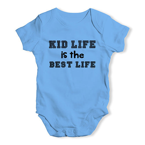 Baby Grow Baby Romper Kid Life Is The Best Life Baby Unisex Baby Grow Bodysuit 6-12 Months Blue