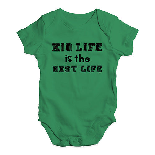 Baby Girl Clothes Kid Life Is The Best Life Baby Unisex Baby Grow Bodysuit 0-3 Months Green