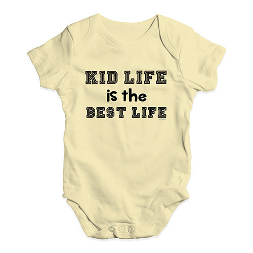 Baby Girl Clothes Kid Life Is The Best Life Baby Unisex Baby Grow Bodysuit 12-18 Months Lemon