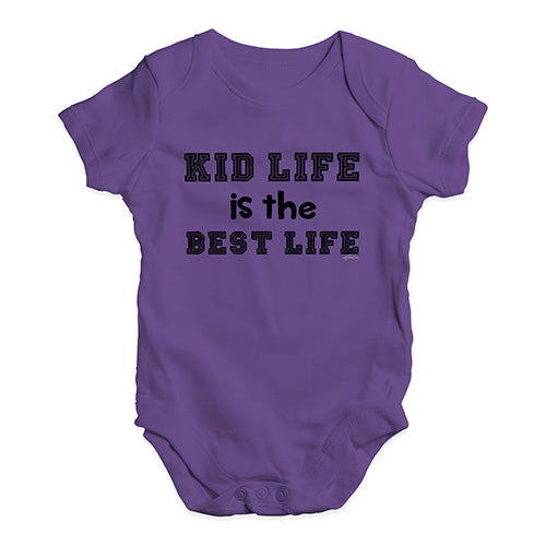 Baby Girl Clothes Kid Life Is The Best Life Baby Unisex Baby Grow Bodysuit 0-3 Months Plum