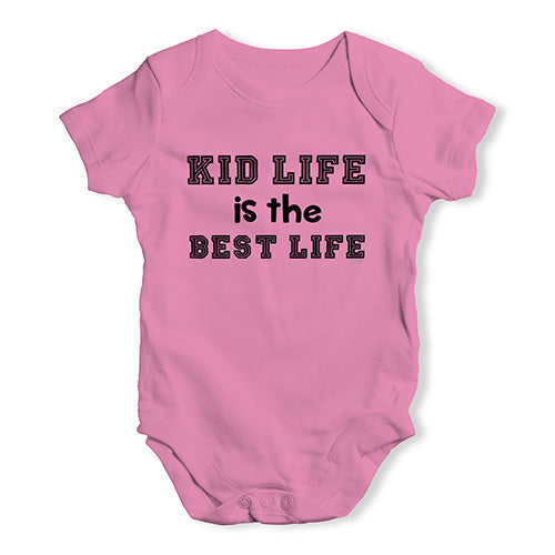 Baby Grow Baby Romper Kid Life Is The Best Life Baby Unisex Baby Grow Bodysuit 6-12 Months Pink