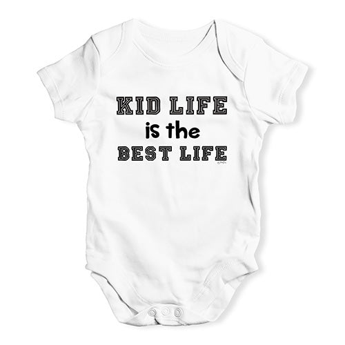 Funny Baby Onesies Kid Life Is The Best Life Baby Unisex Baby Grow Bodysuit 3-6 Months White