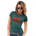 Womens T-Shirt Funny Geek Nerd Hilarious Joke Merry Chrismukkah Women's T-Shirt X-Large Bottle Green
