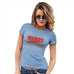 Funny T Shirts For Mom Merry Chrismukkah Women's T-Shirt X-Large Sky Blue