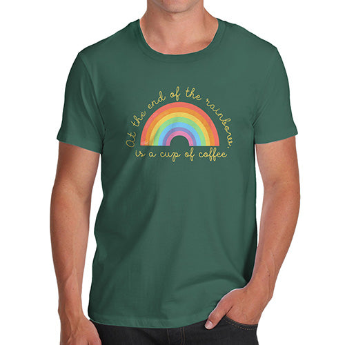 Mens Humor Novelty Graphic Sarcasm Funny T Shirt The End Of The Rainbow Men's T-Shirt Small Bottle Green