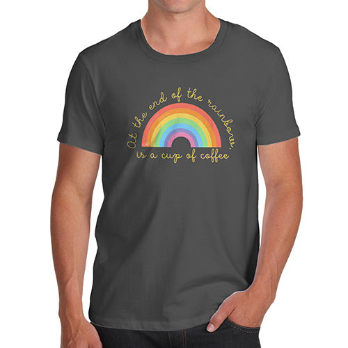 Funny Mens Tshirts The End Of The Rainbow Men's T-Shirt Small Dark Grey