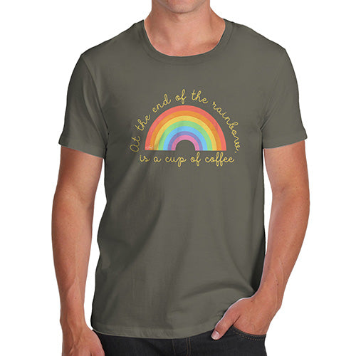 Mens Humor Novelty Graphic Sarcasm Funny T Shirt The End Of The Rainbow Men's T-Shirt Medium Khaki