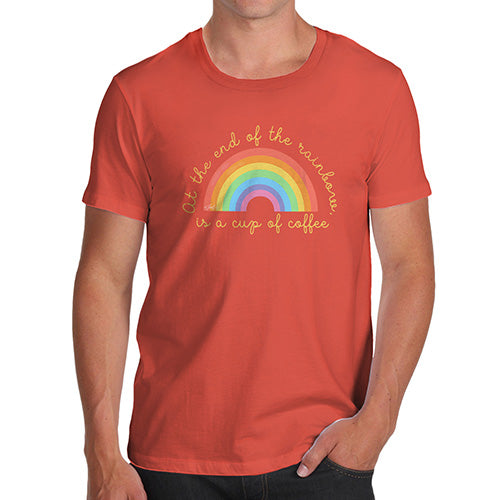 Funny T-Shirts For Men Sarcasm The End Of The Rainbow Men's T-Shirt Medium Orange