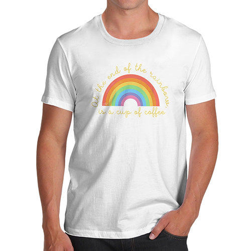 Funny T-Shirts For Men Sarcasm The End Of The Rainbow Men's T-Shirt Small White