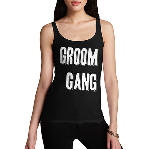 Funny Tank Tops For Women Groom Gang Women's Tank Top X-Large Black