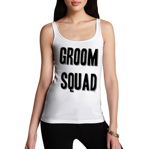 Funny Tank Top For Women Sarcasm Groom Squad Women's Tank Top Small White