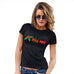 Funny T Shirts For Mom Kiss Me Mistletoe Women's T-Shirt Large Black