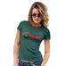 Womens T-Shirt Funny Geek Nerd Hilarious Joke Kiss Me Mistletoe Women's T-Shirt Large Bottle Green