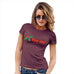 Funny T-Shirts For Women Sarcasm Kiss Me Mistletoe Women's T-Shirt Small Burgundy