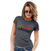Womens Novelty T Shirt Christmas Kiss Me Mistletoe Women's T-Shirt X-Large Dark Grey