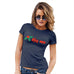 Womens Novelty T Shirt Christmas Kiss Me Mistletoe Women's T-Shirt Small Navy