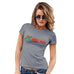 Novelty Tshirts Women Kiss Me Mistletoe Women's T-Shirt Medium Light Grey
