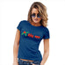 Womens Humor Novelty Graphic Funny T Shirt Kiss Me Mistletoe Women's T-Shirt X-Large Royal Blue