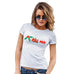 Womens Funny Tshirts Kiss Me Mistletoe Women's T-Shirt Large White