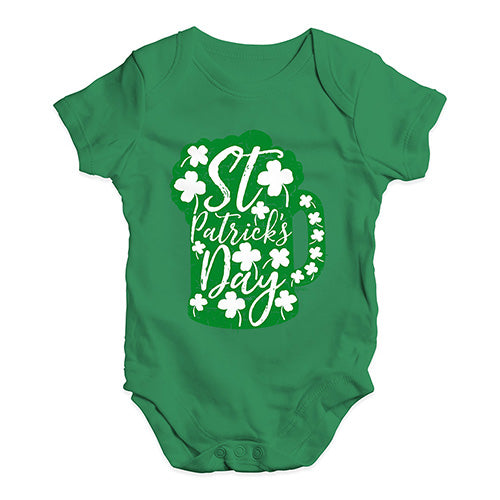 Funny Baby Onesies St Patrick's Day Tankard Baby Unisex Baby Grow Bodysuit 12-18 Months Green