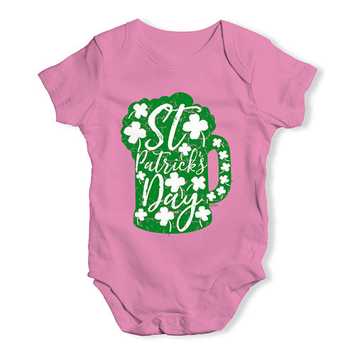 Funny Baby Bodysuits St Patrick's Day Tankard Baby Unisex Baby Grow Bodysuit 12-18 Months Pink