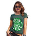 Funny Shirts For Women St Patrick's Day Tankard Women's T-Shirt Large Bottle Green