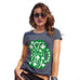 Womens Humor Novelty Graphic Funny T Shirt St Patrick's Day Tankard Women's T-Shirt Small Navy