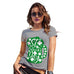 Funny T-Shirts For Women Sarcasm St Patrick's Day Tankard Women's T-Shirt Large Light Grey