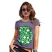Womens Funny Tshirts St Patrick's Day Tankard Women's T-Shirt Large Plum