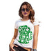 Womens Humor Novelty Graphic Funny T Shirt St Patrick's Day Tankard Women's T-Shirt Small White