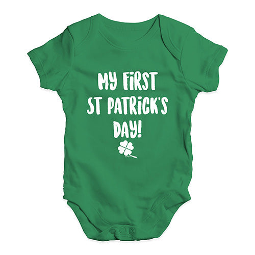 Funny Baby Bodysuits My First St Patrick's Day Baby Unisex Baby Grow Bodysuit Newborn Green