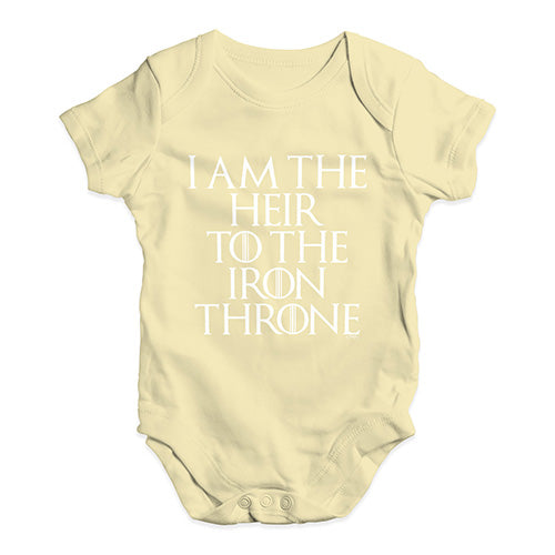 Heir To The Throne Game Of Thrones Baby Unisex Baby Grow Bodysuit