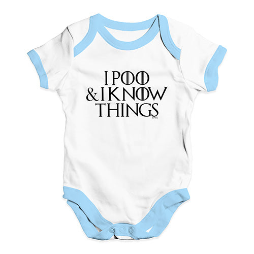 I Poo And I Know Things Game Of Thrones Baby Unisex Baby Grow Bodysuit