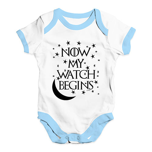 Now My Watch Begins Game Of Thrones Baby Unisex Baby Grow Bodysuit