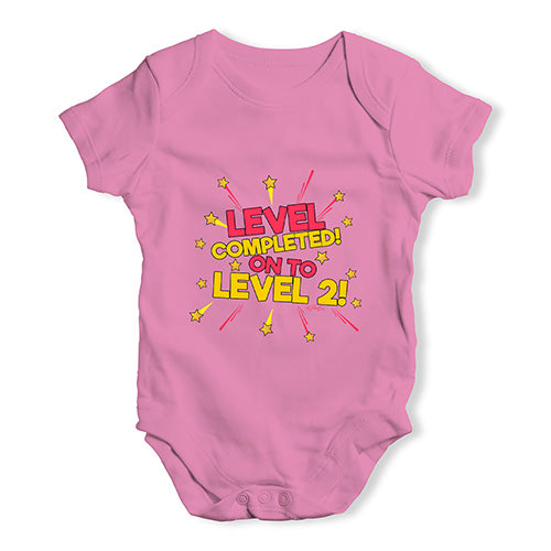 Level Completed! On To Level 2 Baby Unisex Baby Grow Bodysuit