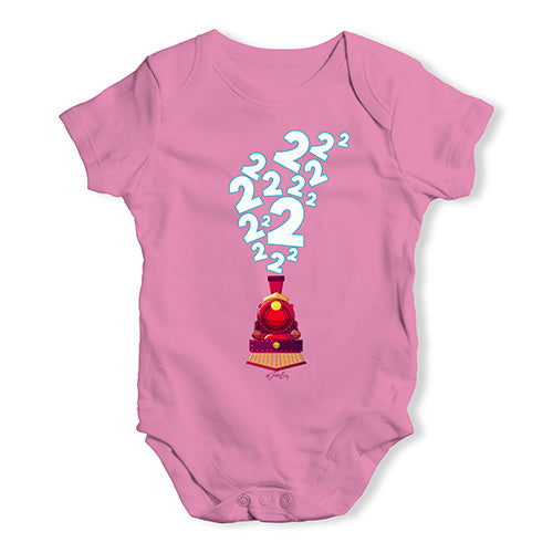 2nd Birthday Train Baby Unisex Baby Grow Bodysuit