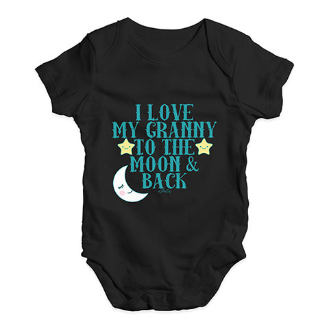 c75f7e61a I Love My Granny To The Moon Baby Unisex Baby Grow Bodysuit