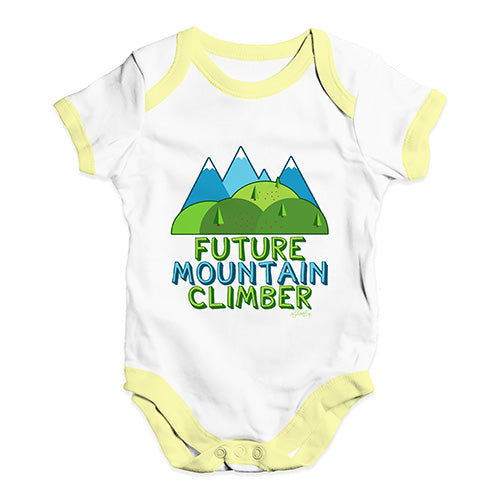 Future Mountain Climber Baby Unisex Baby Grow Bodysuit