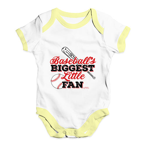 Baseball's Biggest Little Fan Baby Unisex Baby Grow Bodysuit