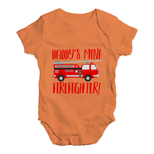 Daddy's Mini Firefighter Baby Unisex Baby Grow Bodysuit