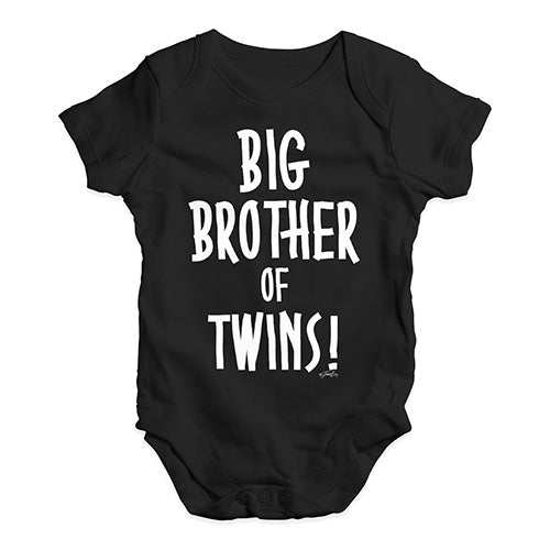Big Brother Of Twins! Baby Unisex Baby Grow Bodysuit