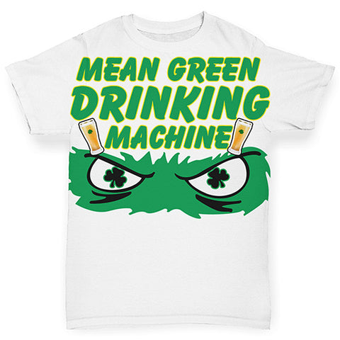 Baby Boy Clothes Mean Green Drinking Machine Baby Toddler ALL-OVER PRINT Baby T-shirt 0-3 Months White