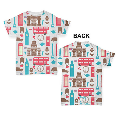 London Pattern Baby Toddler ALL-OVER PRINT Baby T-shirt