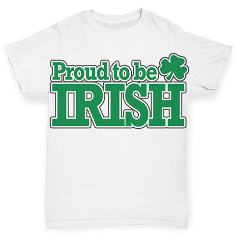 Funny Infant Baby Tshirts Proud To Be Irish Baby Toddler ALL-OVER PRINT Baby T-shirt 3-6 Months White