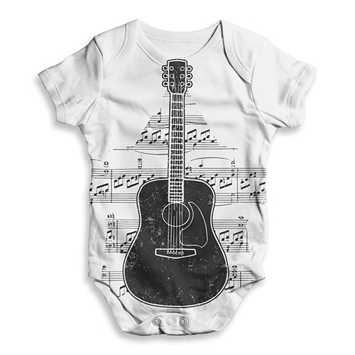 2ff5f52e1 Guitar Music Notes Star Baby Unisex ALL-OVER PRINT Baby Grow Bodysuit