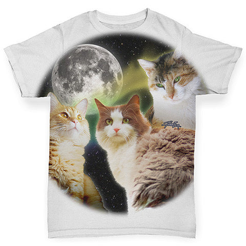 Three Cats Moon Baby Toddler ALL-OVER PRINT Baby T-shirt